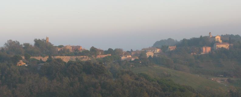 Panorama di Fiorenzuola di Focara