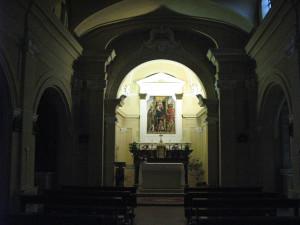 Pala d'altare all'interno della chiesa di Casteldimezzo
