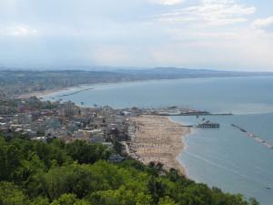 Panorama sulla Riviera Romagnola da Gabicce Monte