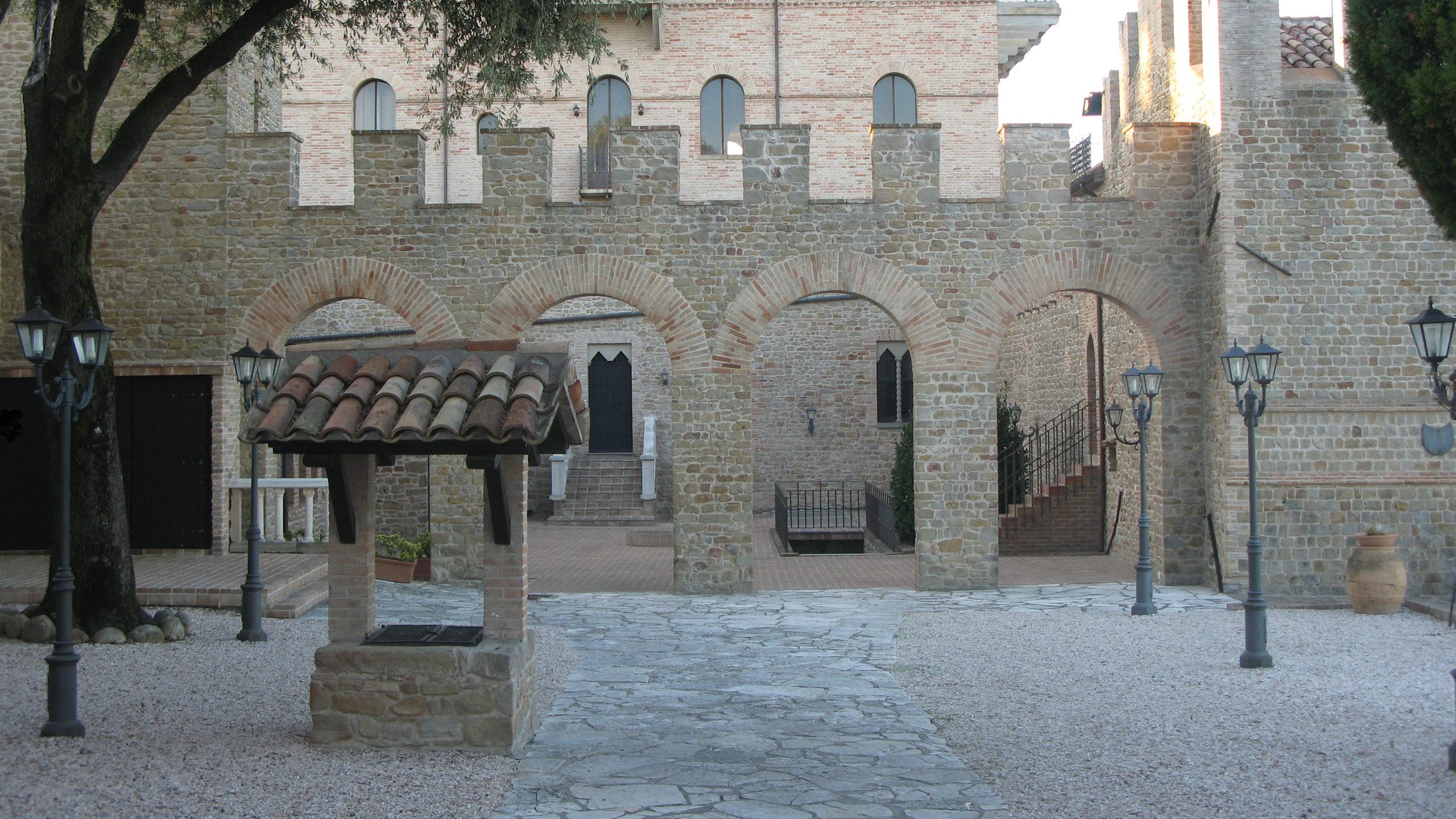 Particolare dell'interno del Castello