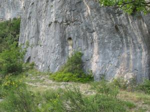 Partenza delle vie di arrampicata della Balza della Penna