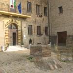 Particolare dell'entrata del comune di Sant'Angelo in Lizzola
