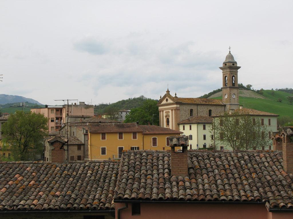 Panorama di Belforte con Chiesa Parrocchiale