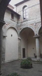 Particolare del cortile interno di Palazzo Ubaldini