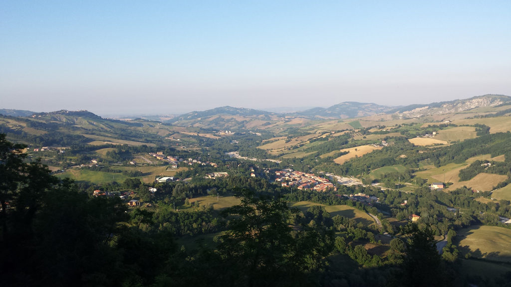 Panorama da Montegrimano Terme